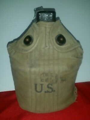 WWII US Army S.M.C.O. Canteen W/ Cover /No Cup 1945