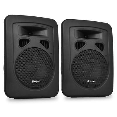 Pack 2 Enceintes Sono Dj Pa Subwoofer 20Cm Abs Skytec Pro Geluidssysteemset Neuf