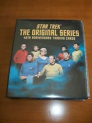 STAR TREK THE ORIGINAL SERIES TOS 40th Anniversary Series 1 Uncompleted & binder
