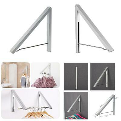 Anjuer Folding Clothes Drying Rack Airer Non-corroding Aluminum and wall rack
