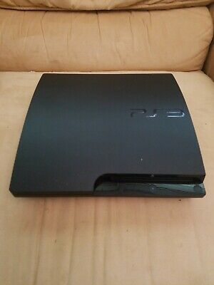 Sony PlayStation 3 Slim 320GB Black Console Only, Tested Working (CECH-3001B)