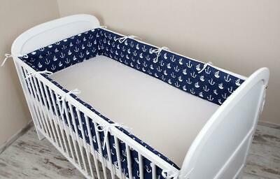 Amilian® Baby Cot Bumper Wrap Around Protection For Baby's Bed With 180x30cm