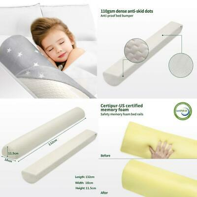 HBselect Memory Foam Baby Bed Guard Rail for Toddler Kids Children...