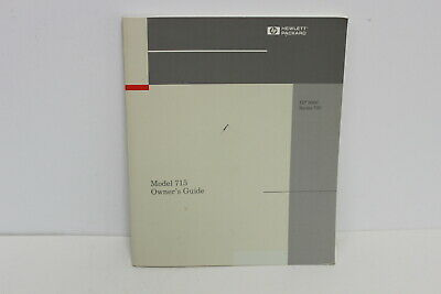 Hp Model 715 Owner's Guide Hp 9000 Series 700 A2084-90629
