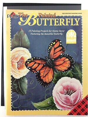 The Painted Butterfly Book by Plaid Decorative Painting FolkArt Tole Patterns