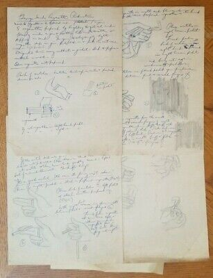 GEORGE SANDS CIGARETTE PRODUCTION Hand Written and Drawn by Harlan Tarbell
