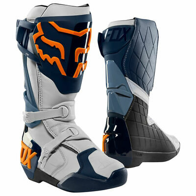 FOX Comp R Boots Navy/Orange Motocross Mx Off Road Boot Sale