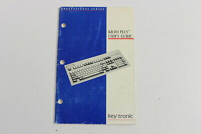 Key Tronic Keytronic Kb 101 Plus User's Guide Professional Series Ktc-36097-1