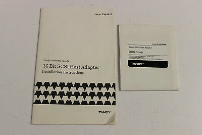 Tandy 16 Bit Scsi Host Adapter Installation Instructions & Dos Drive 3000/4000