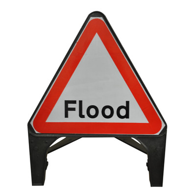 Flood 750mm Plastic Road Traffic Sign