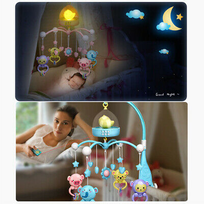 Funny Musical Soothing Melodies Baby Crib Mobile Bell Toy With Remote Control