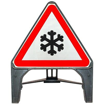 Ice 750mm Plastic Road Traffic Sign