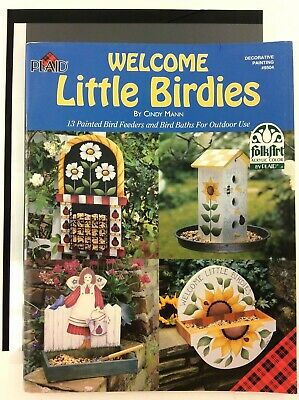Welcome Little Birdies Book by Cindy Mann Plaid Decorative Painting FolkArt Tole