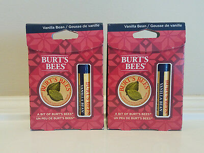 2 count A Bit of Burt's Bees * Vanilla Bean Lip Balm Lemon Butter Cuticle Cream