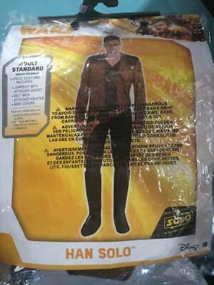 Star Wars Han Solo Costume Adult Standard With Accessories & Blaster