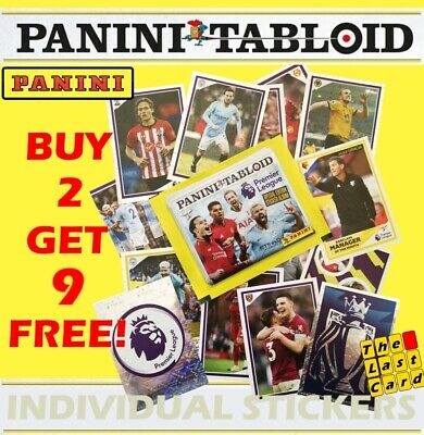 Panini Tabloid 2019 Individual Stickers Inc Foils - Buy 2 Get 9 Free - Premier