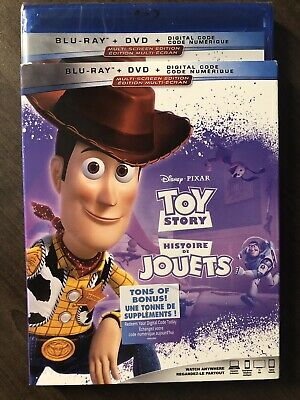 Disney Toy Story 1 Blu-Ray & DVD w Slipcover Canada Bilingual NO DC LOOK