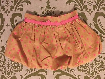 baby Gap Girls Corduroy Bubble Skirt with Pink Polka Dots Size 12-18 Months