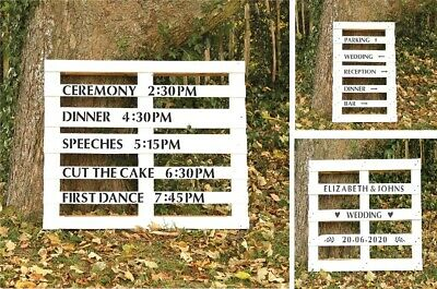 Personalised Wedding Venue Event Times Guest Outdoor Direction Signs Stencil Kit