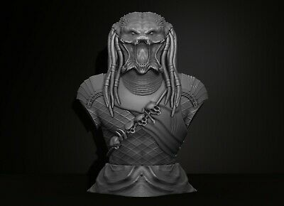 Predator Bust - File Stl for 3D printing -  Figurine 3D Printing Assembly