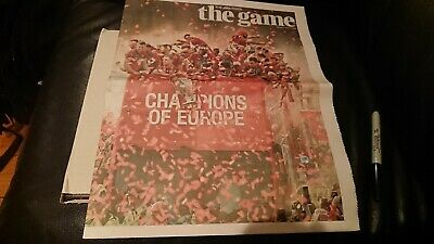 2019 Champions League Final Liverpool V Tottenham Times Newspaper Pull Out