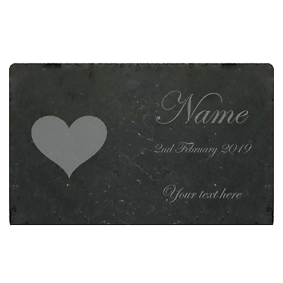 Slate Memorial Plaque Personalised Laser Engraved High Quality Family & Pets