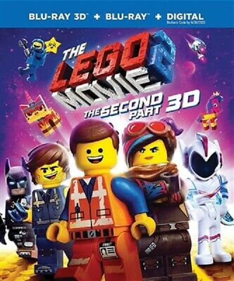 Lego Movie2: Second Part 3D 04/19 3D (used) Blu-ray Only Disc Please Read