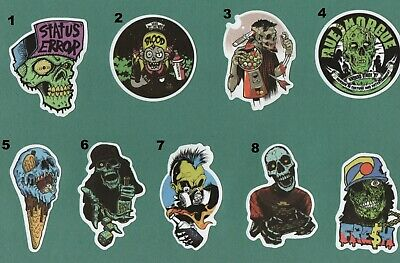 ZOMBIES n GHOULS Stickers Buy 1 get 1 FREE HORROR Undead Death Day of the Dead