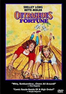 NEW DVD - OUTRAGEOUS FORTUNE - Shelley Long, Bette Midler, Peter Coyote, Robert