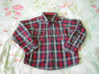 Baker Boy By Ted Baker Red Check Long Sleeved Shirt Age 18-24 months Baby Boys