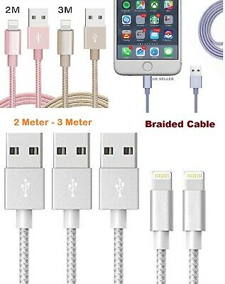 Braided Lightning to USB Cable Data Sync Charger For iPhone X/XR/XS Max/8/6/8P/7