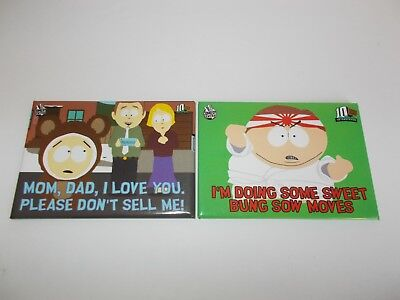 2006 Comedy Central SOUTH PARK Fridge Magnets Lot Of 2 Eric Cartman Butters