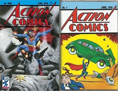 Action Comics #1 Loot Crate June 1938 and #1000 1930s Variant by Steve Rude