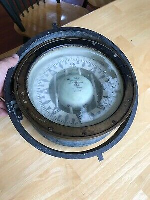 Vintage Antique Maritime Marine  1918 WW1 Navy Ship Compass E.S. Ritchie & Sons