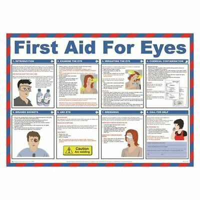 New Safety First Aid First Aid For Eyes Poster 59Cm X 42Cm A602T Best Quality