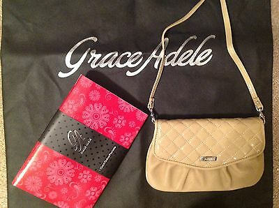 Brand New Grace Adele Elegant Jane Sand Clutch with tags on