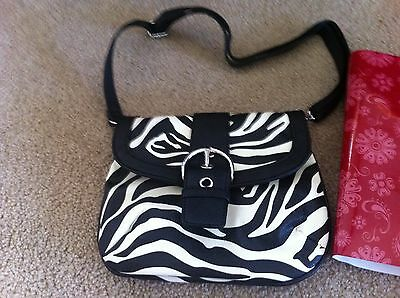 Brand New Grace Adele Elegant Leigh Zebra Clutch  Handbag  with tags on