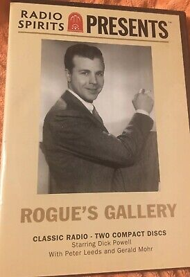 Radio Spirits Presents: Rogue's Gallery 2 CD Set, Old Time Radio Dick Powell New