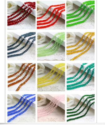 wholesale Glass Crystal Faceted Rondelle Charm Spacer Beads 4---12mm