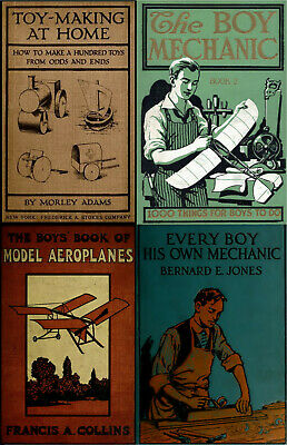 84 Old Books On Vintage Toys & Toy Making Model Ship Airplane Kite & More On Dvd