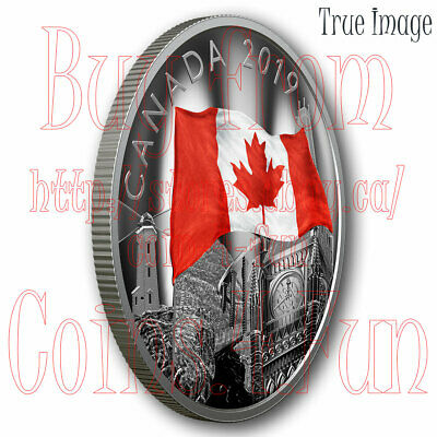2019 - The Fabric of Canada - $30 2 OZ Pure Silver Proof Coin