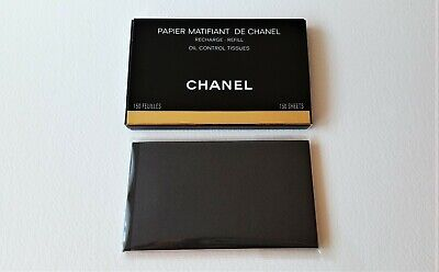 CHANEL Papier Matifiant Oil Control Tissues 150 sheets REFILL pack, New with Box
