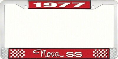 OER LF3567703C 1977 Nova SS License Plate Frame Style 3 Red