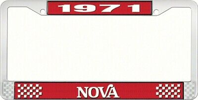 OER LF3567102C 1971 Nova License Plate Frame Style 2 Red