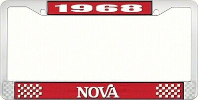 OER LF3566802C 1968 Nova License Plate Frame Style 2 Red