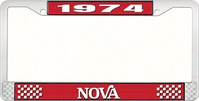OER LF3567402C 1974 Nova License Plate Frame Style 2 Red