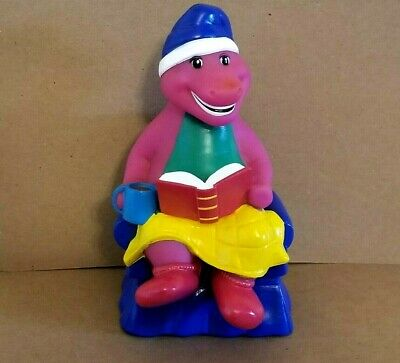 "Barney & Friends Purple Dinosaur Sitting in a Blue Chair 7"" Piggy Bank 1992"