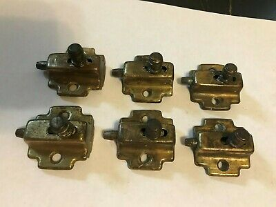 6 Rare Antique Arts Craft Deco Steel Silentite Window Sash Slide Bolt Latch Lock