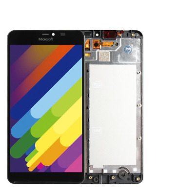 Neue Microsoft Lumia 640XL Schwarz LCD Display Touch Digitizer Assembly + Frame