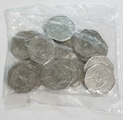 Full sealed bag : BRAND NEW 2019 SHERLOCK HOLMES UNCIRCULATED 50p COINS